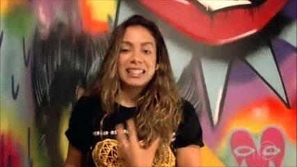 Pedro Bial quer saber quais os planos internacionais de Anitta