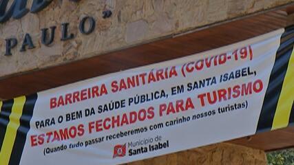 Santa Isabel instala barreiras sanitárias para limitar acesso dos turistas