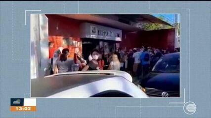 Pacientes relatam aglomeração em filas para acesso a hospital em Teresina