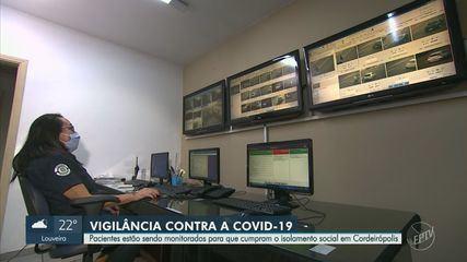 Pacientes estão sendo monitorados para que cumpram o isolamento social em Cordeirópolis
