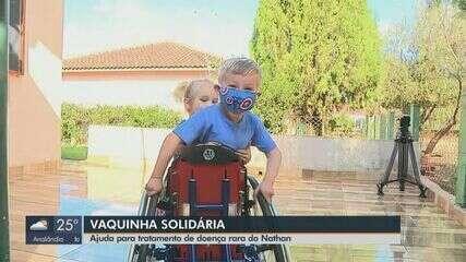 Família de criança de 4 anos com doença rara busca ajuda para manter tratamento em Araras