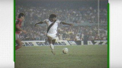 Gol de Cocada para o Vasco sobre o Flamengo em 1988
