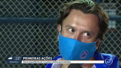 Novo presidente do Cruzeiro, Sérgio Rodrigues prioriza quitar salários e dívidas na Fifa