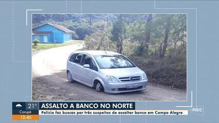 Polícia faz buscas por suspeitos de assaltar banco em Campo Alegre