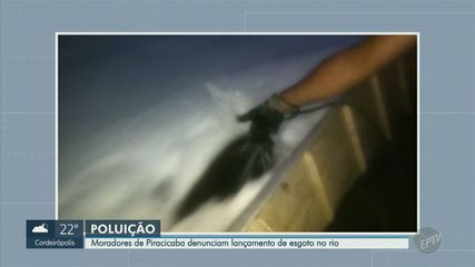 Moradores de Piracicaba denunciam lançamento de esgoto no rio