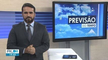 Previsão do tempo aponta pancadas de chuva durante o fim de semana em AL