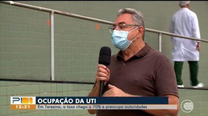 Taxa de ocupação de UTIs em Teresina chega a 70%