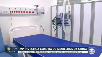 Ministério Público apura compra de 3 mil respiradores para atender pacientes com Covid-19