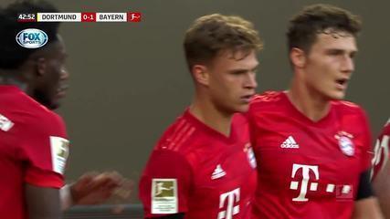 Veja o golaço da vitória do Bayern sobre o Dortmund, fora de casa