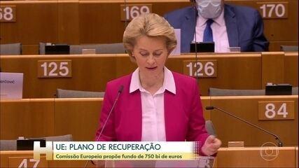 Presidente da Comissão Europeia propõe maior plano de recuperação econômica da história