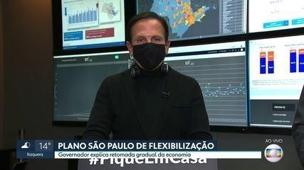 Governador João Doria fala sobre o Plano São Paulo