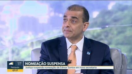 Justiça do Rio suspende nomeação de Edmar Santos como secretário extraordinário do Governo