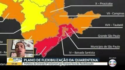 Prefeitos da Região Metropolitana de SP reclamam por ficarem de fora da flexibilização