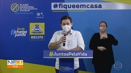 Flexibilização de atividades será possível em junho, diz prefeito do Recife