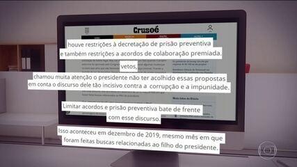 Moro sugere que Bolsonaro não vetou pontos da lei anticrime para proteger o filho Flávio