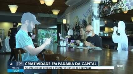 Padaria em Florianópolis aposta na criatividade para atrair clientes
