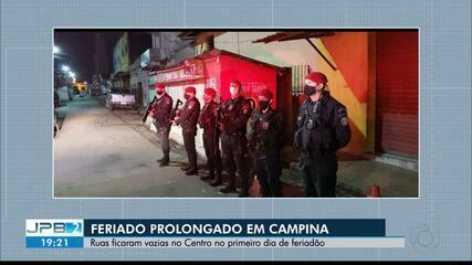 Ruas de Campina Grande ficam vazias no primeiro dia de feriadão
