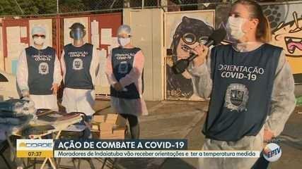 Coronavírus: Indaiatuba faz ação para aferir temperatura e distribuir máscaras