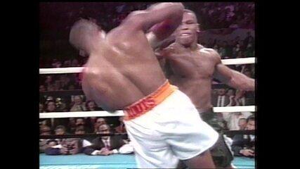 Em 1993, Mike Tyson nocauteia Donovan Ruddock