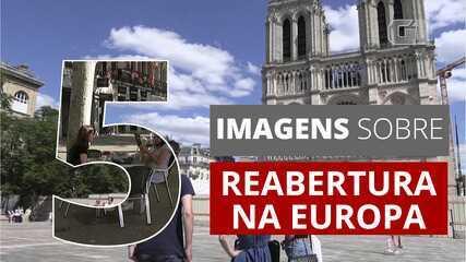 5 imagens sobre reabertura gradual na Europa