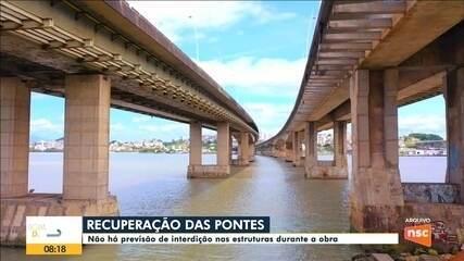 Obra de recuperação das pontes de Florianópolis começa a ser realizada