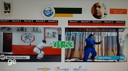 Maiara Amanajás do AP vence duelo virtual contra mineira no Open Judô Funcional Veteranos
