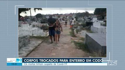 Corpos são trocados para enterro em Codó
