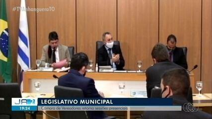Câmara de Palmas retoma sessões presenciais