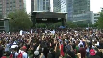Protestos contra o racismo continuam nos EUA mesmo com toque de recolher