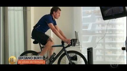 Luciano Burti invade treino virtual de turma de ciclistas no Amapá
