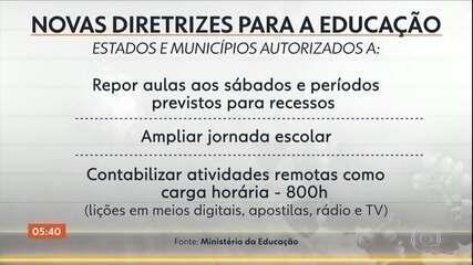 MEC publica novas diretrizes para ajudar estados e municípios a repor as aulas suspensas
