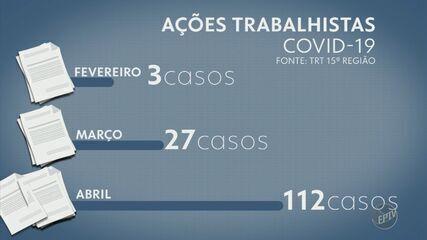 Número de ações trabalhistas relacionadas à Covid-19 aumentou na região