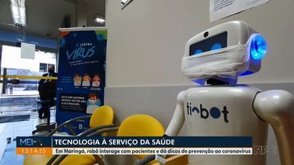 Robô interage com pacientes e dá dicas de prevenção à Covid-19