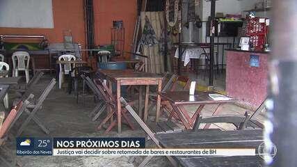 Justiça vai decidir a retomada de bares e restaurantes de BH