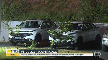 Preso homem suspeito de furtar três caminhonetes da prefeitura de Contagem