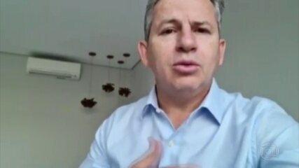 Mauro Mendes, governador de Mato Grosso, está com a Covid-19