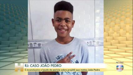 É inconclusivo o laudo da perícia sobre projétil que matou João Pedro