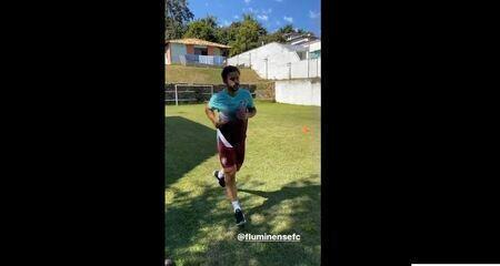 Fred realiza primeiro treino no Fluminense