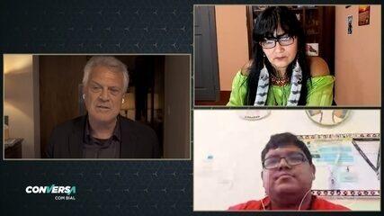 Os líderes indígenas Milena Kokama e Marivelton Baré falam sobre os cuidados com os mais velhos