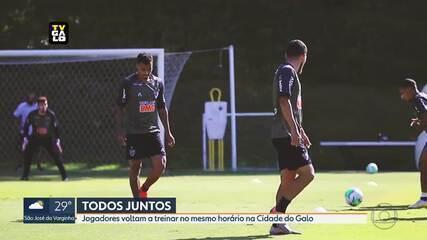 Sem novos casos da Covid-19 em jogadores do Atlético-MG, elenco treina junto no CT do Galo
