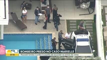 Bombeiro suspeito de participação na morte de Marielle é levado preso pela Polícia Civil