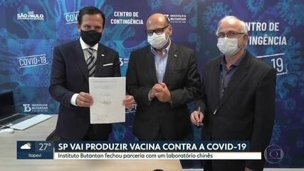 São Paulo vai produzir vacina contra a Covid-19