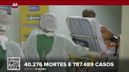 Brasil tem 40.276 mortes por Covid, aponta consórcio de veículos de imprensa
