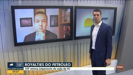 STF retoma julgamento da ação de SC sobre royalties do petróleo