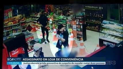 Justiça decreta prisão preventiva de suspeito de mandar matar duas pessoas em Curitiba