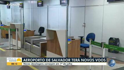 Aeroporto de Salvador contará com novos voos a partir do próximo mês