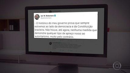 Bolsonaro vê abusos e diz que tomará 'medidas legais' para proteger Constituição