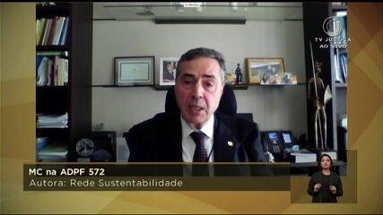 Assista ao voto de Luís Roberto Barroso no inquérito que apura fake news