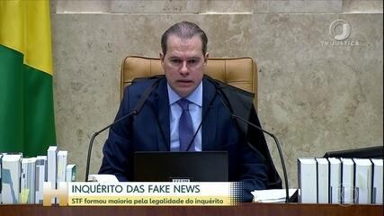 STF forma maioria pela legalidade do inquérito sobre as fake news