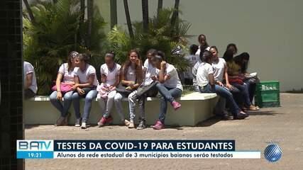 Covid-19: estudantes e funcionários da rede píblica em três escolas baianas serão testados